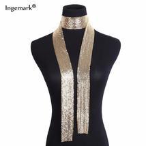 Punk Statement Aluminium Alloy Sequins Pendant Long Choker Necklace Pend... - $30.30+