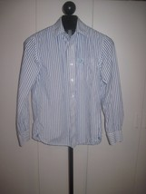 AMERICAN EAGLE VINTAGE FIT MEN'S LS 100% COTTON STRIPED SHIRT-M-GENTLY W... - $7.99