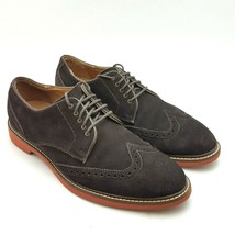 Cole Haan Franklin Wingtip Suede Lace Up Brown Oxfords Mens Size 9.5 M  - $61.87