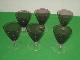 Vintage Set of Six (6) Purple Fostoria Jamestown Water Tea Goblets Glasses - $65.41