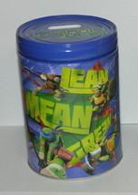 Teenage Mutant Ninja Turtles Large Round Illustrated Tin Coin Bank Style... - $13.54