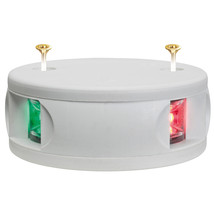 Aqua Signal Series 34 Bi-Color Deck Mount Light - White Housing [34101-7] - $103.81