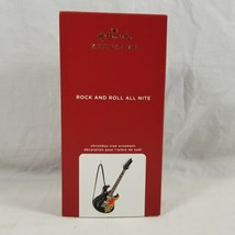 Hallmark Keepsake KISS Rock And Roll All Night Fender Guitar Sound Ornament  - $33.41