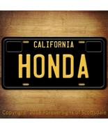 Honda California Aluminum Vanity License Plate Black - $12.82