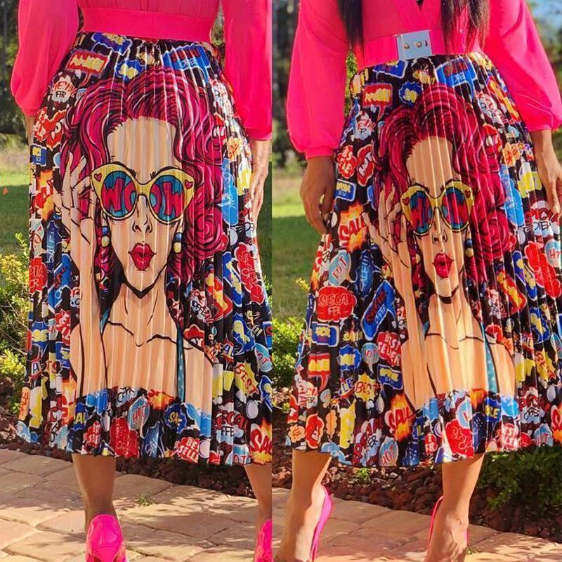 Trendy Ruffle Multicolor Ankle Length  Skirts