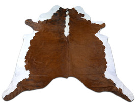 Hereford Cowhide Rug Size: 7' X 7' Hereford Brown & White Cowhide Rug M-472  - $197.01