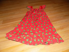 Size 8-10 Homemade Red Green Christmas Tree Candy Cane Print Holiday Dress EUC - $25.00