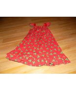 Size 8-10 Homemade Red Green Christmas Tree Candy Cane Print Holiday Dre... - $25.00