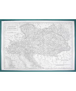 AUSTRIA Central Europe Hungary Romania Slovakia - c. 1835 Original Map 1... - $22.95