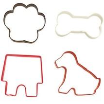 Wilton Colorful 4 Pc Dog Pet Theme Metal Cookie Cutters Set - $7.12