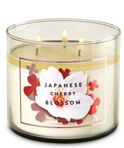 Bath & Body Works Japanese Cherry Blossom Three Wick.14.5 Ounces Scented Candle - $22.49