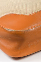 """VINTAGE Hermes Beige Tan Box Calf Leather Canvas """"Trim I"""" Shoulder Bag image 4"""