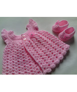 Crochet Baby Dress and Baby Booties Pattern tutorial PDF file - $1.59