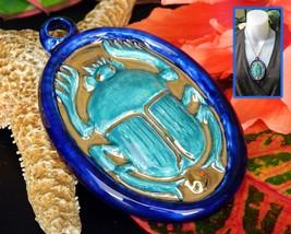 Vintage Scarab Beetle Proof Pendant Nouveau Bleus New Orleans Egyptian - $74.95