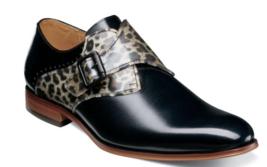 Stacy Adams Sutcliff Plain Toe Monk Strap Shoes Black Multi 25307-009 - €82,07 EUR