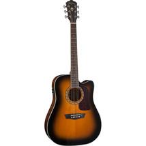 Washburn HD10SCETB Dreadnought Cutaway Natural Gloss Acoustic Guitar - $335.61