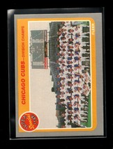 1985 FLEER #642 CUBS DIVISION CHAMPS NMMT CUBS - $1.98