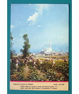 TURKEY Turkish Tobacco Field - 1940s Color Ink Blotter Print - $5.36