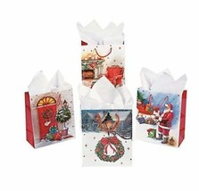 .12 Christmas Vintage Holiday Gift Bags - medium - $14.49