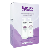 Goldwell USA Dualsenses Blondes & Highlights Anti-Yellow Shampoo, Conditioner Li