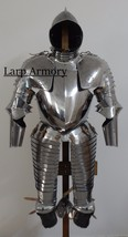 Medieval renaissance wearable half suit of armour with helmet halloween costume - $699.00