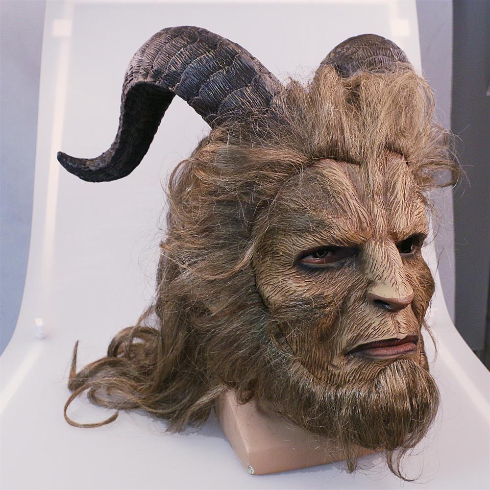 Handmade Beauty and the Beast Mask Prince Dan Stevens Beast Mask Cosplay image 5