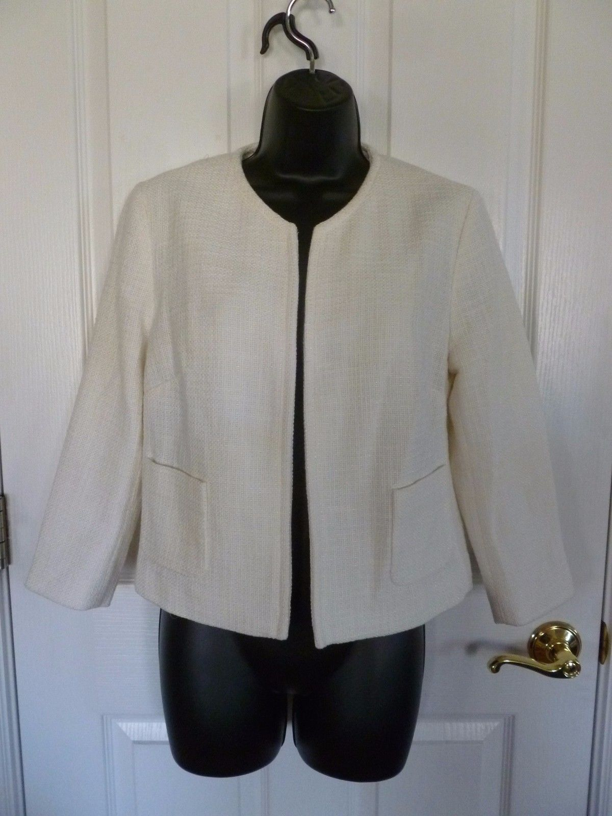 Primary image for GAP Crop Jacket, Cream, Size 8, NWT,   J2