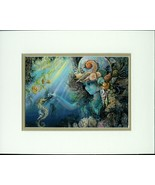 Shell Child by Josephine Wall  Double Matted Fantasy Print Fits 8x10 Fra... - $29.69