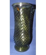 "Green Glass 8.75"" Vase - $16.14"