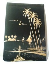 Made Native Straw Beach Landscapes South India Art Wall Decor 1970 Era TIKI - $14.24