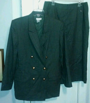 Talbots Lined Wool Gray Suit Front Wrap Skirt Size 12/14? (See Measurements) - $58.05