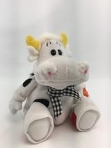 "Yakity Yak Howie ""GOT MILK"" 8"" Cow with Sound Plush Bean Bag Stuffed Farm Animal - $24.49"