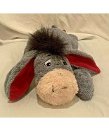 "DISNEY STORE 14"" BEAN BAG PLUSH TOY LAYING/LYING DOWN EEYORE +DETACHABLE... - $23.75"
