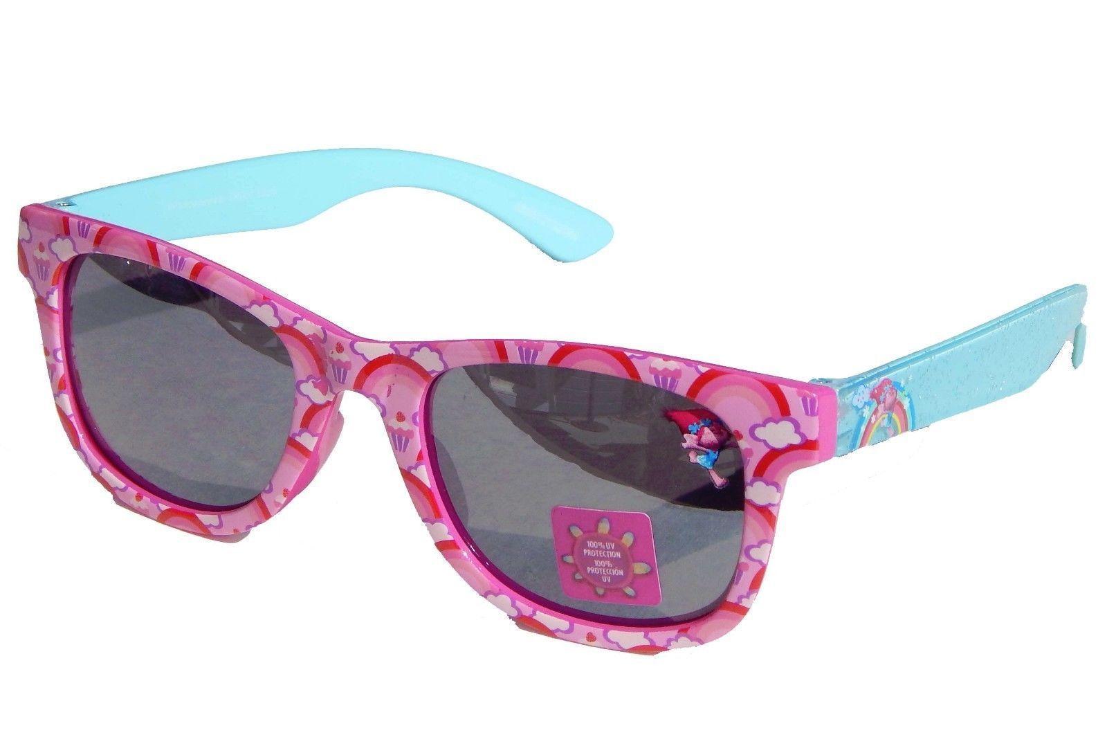 TROLLS PRINCESS POPPY Girls Pink Sparkle 100%UV Shatter Resistant Sunglasses NWT