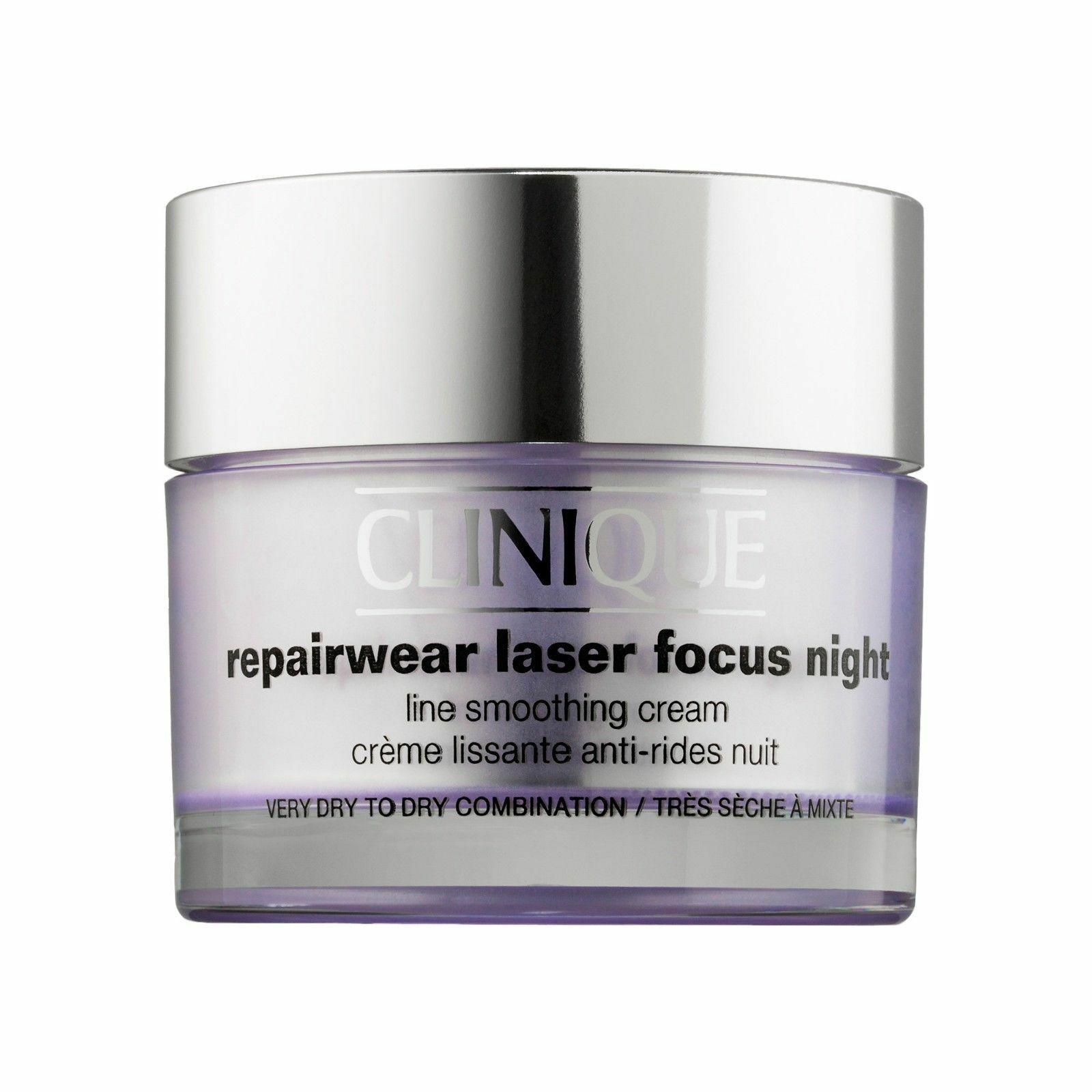 CLINIQUE Repairwear Laser Focus NIGHT Line Smoothing Cream VERY Dry 1.7oz NIB - $48.30