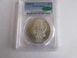 1884-CC Morgan $1 Pcgs Ms 64 Cac - $395.00