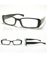 SMALL RECTANGULAR Eyeglass Frames BLACK SIMPLE CLASSIC CASUAL NARROW Design - $9.85