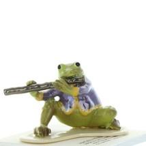 Hagen Renaker Miniature Frog Toadally Brass Band Flute Ceramic Figurine