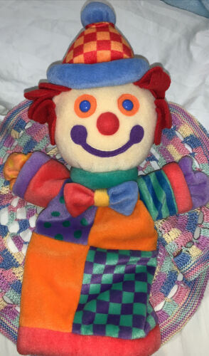 "Gymboree Gymbo Clown Hand Puppet - Original Felt Hair - 12"" Tall by 7"" Wide - $11.23"