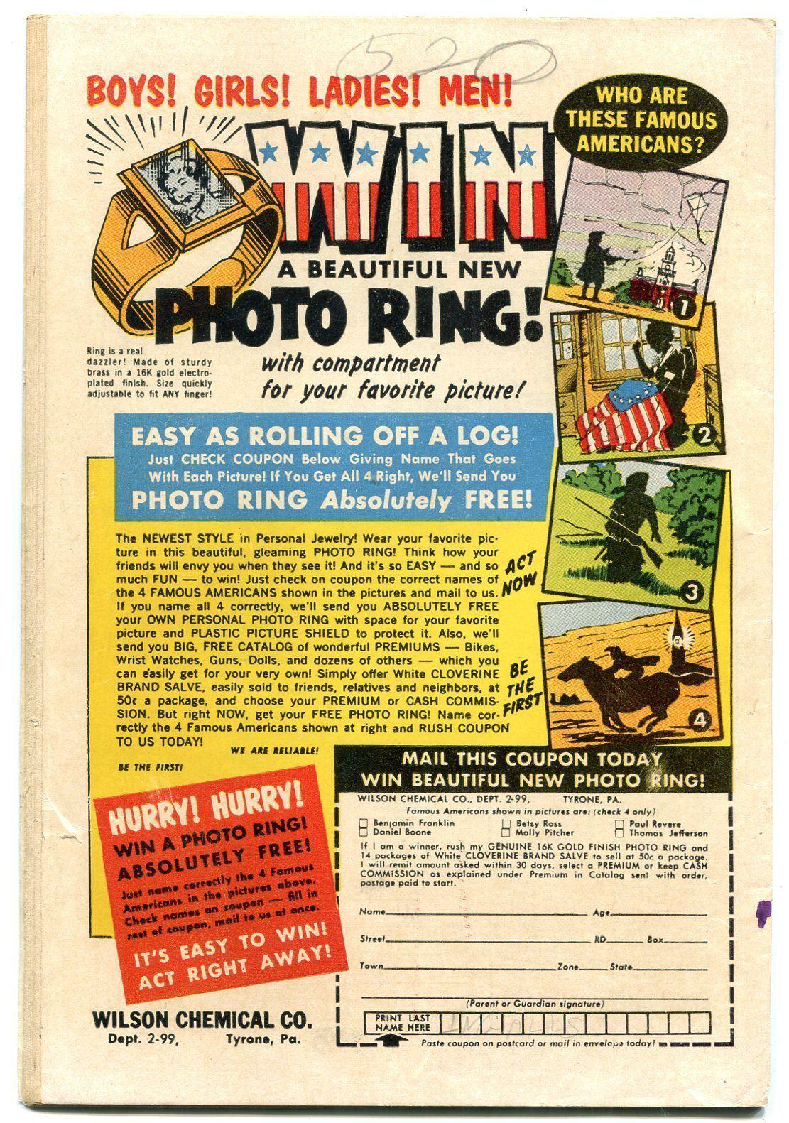 Hunk #1 1961- Charlton humor comic- dinosaur cover VG+ image 2