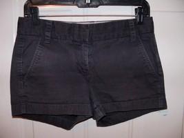 J.CREW Flat Front CHINOS Broken-in Shorts Navy Blue SIZE 00 WOMEN'S EUC - $20.25