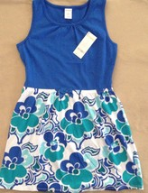 NWT Gymboree Outlet Girls Mix 'n Match Floral Dress Aqua Royal Blue Size... - $15.95