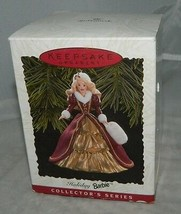 1996 Hallmark Keepsake Holiday Barbie 4th in Series Collectors Xmas Orna... - $19.80
