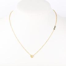 "UE- Trendy Gold Tone Designer ""Lovely"" Heart Necklace & Swarovski Style Crystal - $15.99"