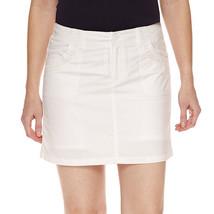 "St. John's Bay Cotton Blend White 5"" Skort 2P, 4P, 6P, 8P, 10P, 12P, 14P, 16P  - $19.99"