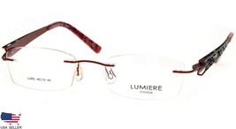 NEW LUMIERE EYEWEAR LUMI2 BORDEAUX EYEGLASSES GLASSES RIMLESS 48-19-140m... - $63.68