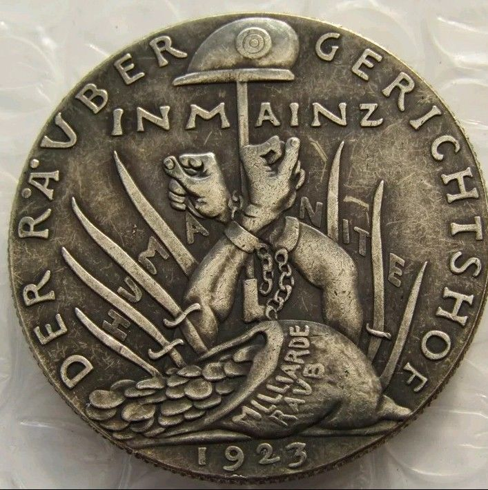 Primary image for New GERMANY 1923 The Robber's Court 100% Silver Plated Coin Der Rauber
