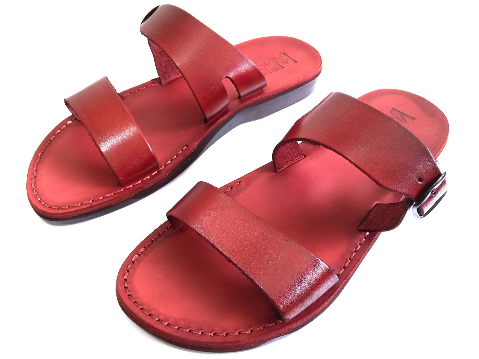Leather Sandals for Men and Women DOUBLE by SANDALIM Biblical Greek Summer Roman