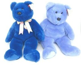 Ty Beanie Buddies Lot of 2 Blue Clubby with Official Blue Button and Clubby II  - $14.84