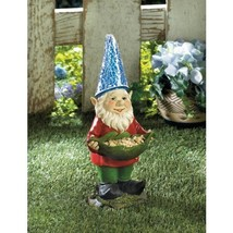 Bird Feeder Gnome Solar Statue - $34.95